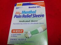 CORALITE EXTRA STRENGTH MENTHOL PAIN RELIEF SLEEVE WRIST/SMALL ANKLES/ELBOW NEW