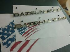 datsun 521 badges fender metal emblems NEW free shipping US