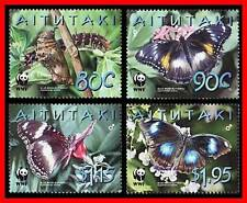 AITUTAKI = WWF TROPICAL BUTTERFLIES   MNH INSECTS (3ALL)