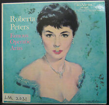 Roberta Peters - Famous Operatic Arias - VG+  LM-2031 SD USA 1957 1s/4s Mono RCA