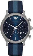 Orologio EMPORIO ARMANI da Uomo AR1949 Cinturino in pelle blu
