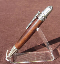 Handmade MEDIEVAL/KNIGHT'S twist pen in Pewter and East India Rosewood [bauer]
