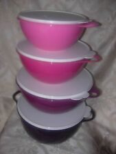 NEW tupperware thatsa bowls electric Pink and Purple tower
