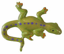 Mexican Tin Lizard Salamander  Magnet Ornament  Metal Art Green
