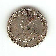 Offer Straits Settlements  10cents  coin  1919   very nice!