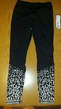 NWT Women's KYODAN Black & Silver SLIMMING Workout Athletic Yoga Pants - S