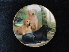 Franklin Mint Collectors Plate 'Canine Companions' 3 Labrador Dogs