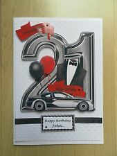 Hand-Made Male 21st Birthday Card -Can be Personalised