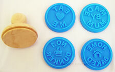 Eddingtons Cookie Biscuit Icing Pastry Stamps Set of 4 Blue Home Baked Baking