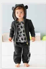 3PC Kids Baby Boys Clothes Set Toddler boys hooded coat+Pants Clothes Outfits