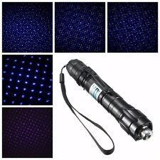 New Purple Light Laser Pointer 5 Different Changeable Patterns Pen Beam