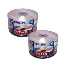 100 Pack PHILIPS Logo Brand 16X Blank DVD+R Plus R Disc Media 4.7GB