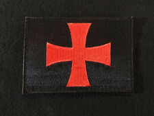 CROSS CRUSADER SHIELD NAVY SEAL DEVGRU ARMY TACTICAL BLACK OPS RED HOOK PATCH