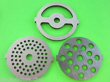 3 pc SET disc plates for  Deni Waring Pro Oster Rival Elite Sunmile Meat Grinder
