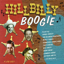 Hillbilly Boogie [Box Set] [Box] by Various Artists (CD, Nov-2002, 4 Discs,...