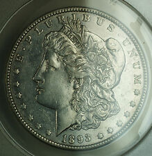 1893-O Morgan Silver Dollar $1 ANACS AU-50 Details Tooled Cleaned