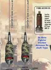 2x Sirio Fighter 5000 3/8 NS (No Shaft) 10m & CB Mobile Antenna  Limited Edition