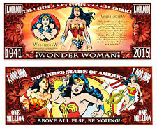 WONDER WOMAN BILLET MILLION DOLLAR US! Collection Super Heros serie Comics bd dc