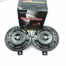"12V 4.8"" Black Grille 118dB Super Loud Tone Compact Horn Speakers For Motorcycle"
