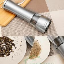 Stainless Steel Electric Salt Pepper Grinder Spice Sauce Mills Grinder Set