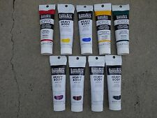 Liquitex Heavy-body Acrylic Paint 9 - 2 ounce Tubes Lot 1
