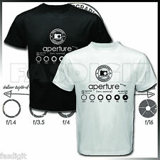 NEW APERTURE PHOTOGRAPH PHOTOGRAPHY PHOTOGRAPHER CAMERA BLACK T SHIRT TEES S-XL
