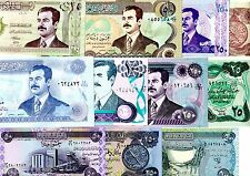 Lot SET SERIE IRAK IRAQ 11 BILLETS DIFFERENTS SADDAM HUSSEIN NEUF UNC