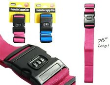 2x Nylon Strength Travel Belt Luggage Bag Strap With Security Combination Lock