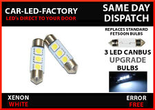 VW LUPO CANBUS ERROR FREE NUMBER PLATE LED LIGHT BULB FESTOON 36mm x2 C5W