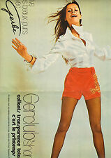 "Publicité 1971  ( Double page )  Lingerie Collants Gerclub ""short"" Gerbe bas"