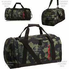 O'NEILL GREEN HOLDALL - CLASSIC CAMOUFLAGE SPORTS GEAR SCHOOL KIT BAG MENS BOYS