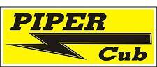 A058 Piper Cub Airplane banner hangar garage decor Aircraft signs