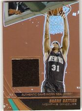 SHANE BATTIER BRONZE JERSEY SERIAL #/99 2004-05 TOPPS JE-SBA GRIZZLIES DUKE