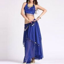 Belly Dance Costume Set (Top,Gold Coins Skirt) Carnival Fancy Outfit