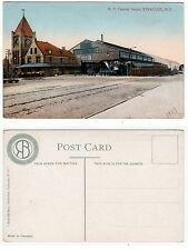 New York Central Depot SYRACUSE, railroad station with train 1909