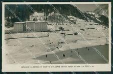 Brescia Ponte di Legno Nevicata Sci Foto cartolina QK6872