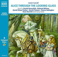 LEWIS CARROLL CD AUDIO BOOK CD - ALICE THROUGH THE LOOKING GLASS STUNNING 3CD