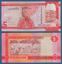 GAMBIA 5 Dalasis (2015) Replacement Z UNC P.31 r