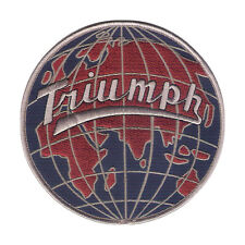 "New 5"" Triumph Motorcycle GLOBE Style - Highly Detailed Embroidered Patch"