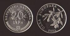 CROAZIA HRVATSKA 20 LIPA 2002 OLEA EUROPAEA Q.FDC/aUNC QUASI FIOR DI CONIO