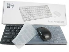 Mini Teclado Y Mouse Inalámbrico Negro Set Para Toshiba 40L7355DB Smart 3D TV
