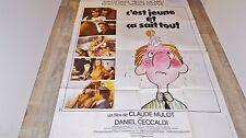 C' EST JEUNE ET CA SAIT TOUT  ! affiche cinema vintage 1974 ferracci