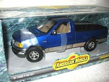 1997 97 FORD F-150 XLT  PICKUP BLUE ERTL 1:18  AMERICAN MUSCLE NEVR OUT A BOX