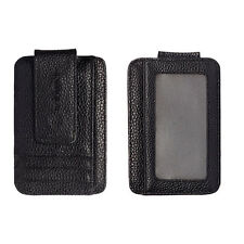Fashion Men's Leather Wallet Credit Card ID Holder Money Clip Black