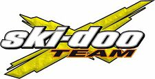 Ski-Doo YELLOW TEAM X vinyl snowmobile sticker graphic