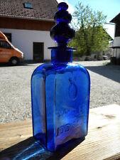 c 1900 HALLER JODSALZ FLASCHE Kobalt Glas kobaltblau Bad Hall Tassilo Apotheker