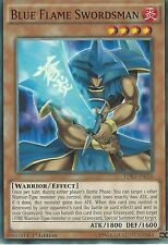 YU-GI-OH CARD: BLUE FLAME SWORDSMAN - LDK2-ENJ14 1ST EDITION