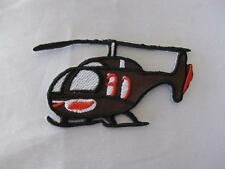HELICOPTER IRON ON/SEW ON EMBROIDERED CLOTH PATCH (P88)