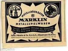 Märklin--Metallbaukästen--Metallspielwaren--Werbung von 1925
