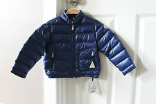 New Moncler Blue Down Puffer Jacket Coat Baby Toddler Boy sz 2 y Year